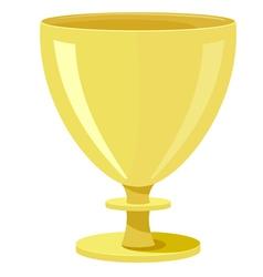 Golden bowl vector