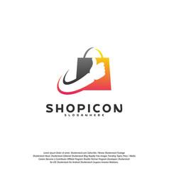 good shop logo template design great shop logo vector image