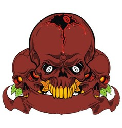 grunge skull isolated vector image