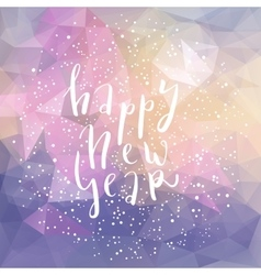 Happy new year lettering postcard vector