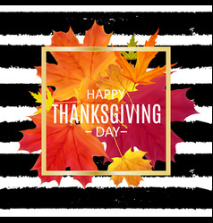 happy thanksgiving day background with shiny vector image
