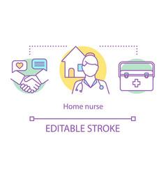 home nurse concept icon vector image
