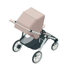 isometric baby carriage isolated on a white vector image