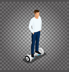isometric man playing a game vector image