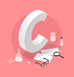 isometric school grade vector image