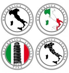 italian stamp vector image