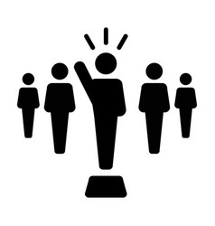 leader icon male public speaker person symbol vector image