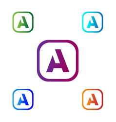 letter a abstract creative logo template vector image