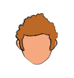 Male faceless head vector
