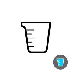 measuring cup empty icon vector image