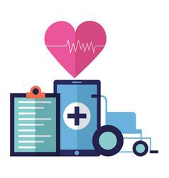 medical smartphone app vector image