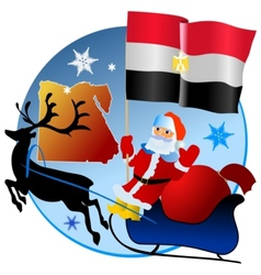 Merry Christmas Egypt vector image