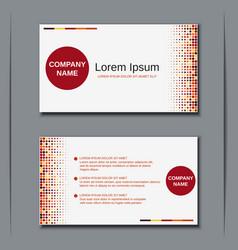Modern business visiting card template vector