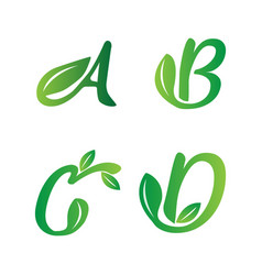 nature fonts symbol vector image