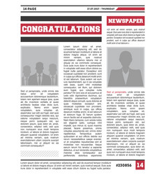 News magazine page layout vector