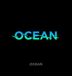 Ocean logo sea emblem fishing vector