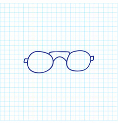 Of trip symbol on glasses vector