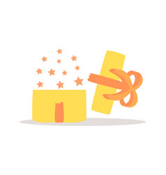 opened gift box icon vector image