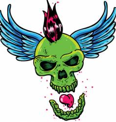 punk tattoo vector image