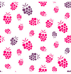 raspberry pink and purple seamless pattern on vector image