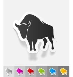 Realistic design element aurochs vector