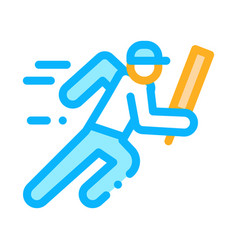 running athlete icon outline vector image