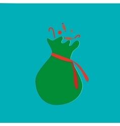 Santas sack with candy Christmas collection vector image