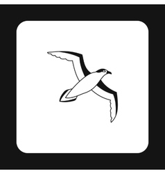 Sea gull icon in simple style vector