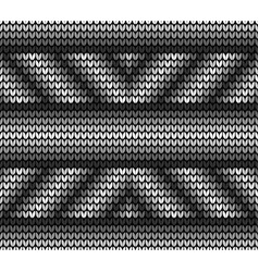 seamless black lines knitting vector image