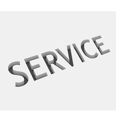 Service text design vector