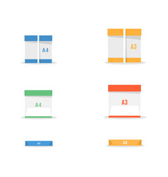 set office paper vector image
