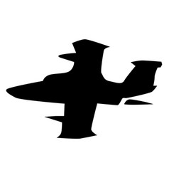 silhouette military jet plane vector image