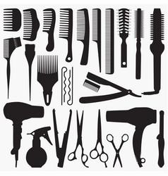 Silhouettes hair accessories vector