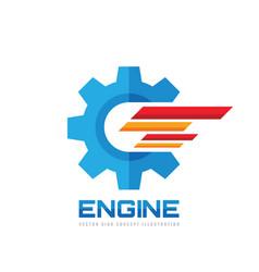 solution concept logo design gear cogwheel icon vector image