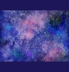 space background with realistic nebula colorful vector image