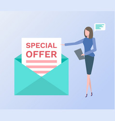 Special offer envelope letter with proposal vector