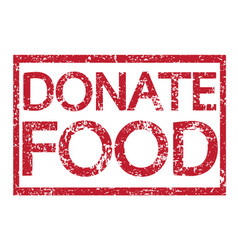 Stamp text donate food vector