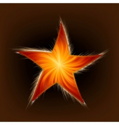 star and rays vector image