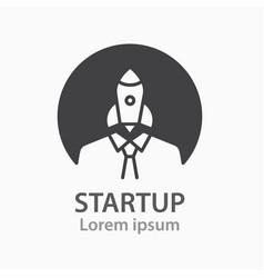 Startup icon biness solution innovation logo vector