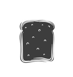 Toast bread slices glyph icon vector