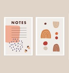 trendy set modern journaling cards invitations vector image