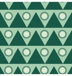 Triangle and circle geometric seamless pattern vector image