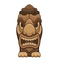 Tropical tiki idol icon cartoon style vector