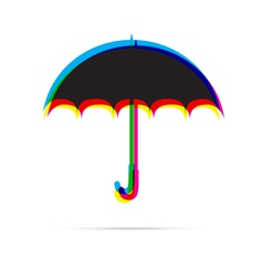 Umbrella icon with shadow vector