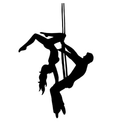 Very high quality of gymnasts vector