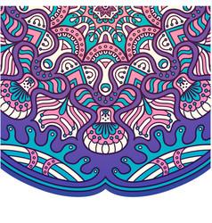 vintage mandala design purple tone image vector image