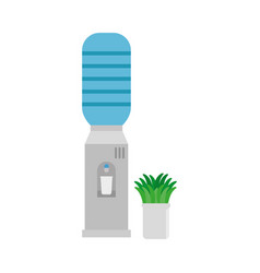 Water dispenser machine and houseplant office vector