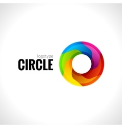 Abstract circle round logo for business vector image vector image