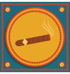 cigar on stylized background vector image