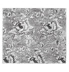 damask fabric is a figured pattern using a vector image vector image